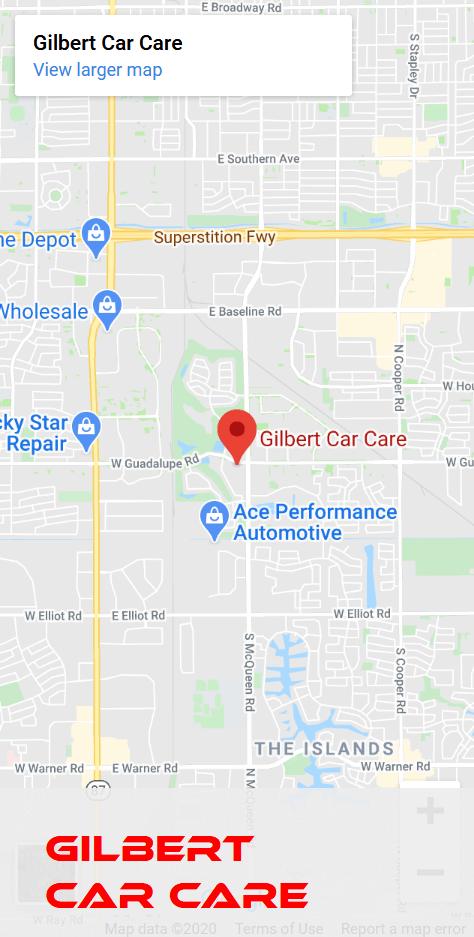 Gilbert Car Care Map