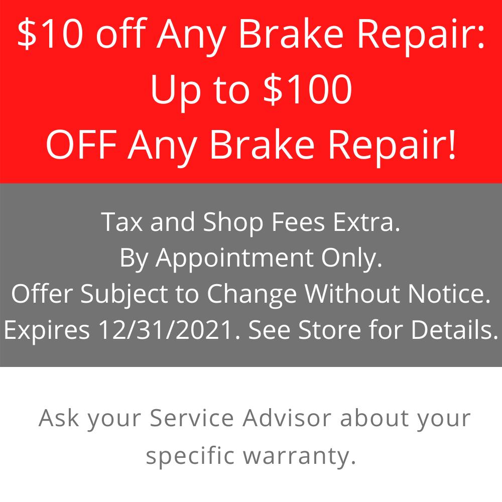 $ 10 off any brake repair